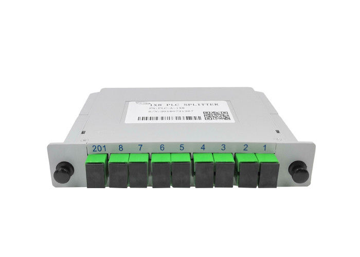 Fast 1x8 PLC Splitter Fibre Separation , Single Mode Fiber Splitter LGX